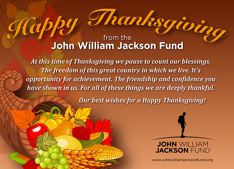 The John William Jackson Fund (JWJF) wishes our worldwide family of