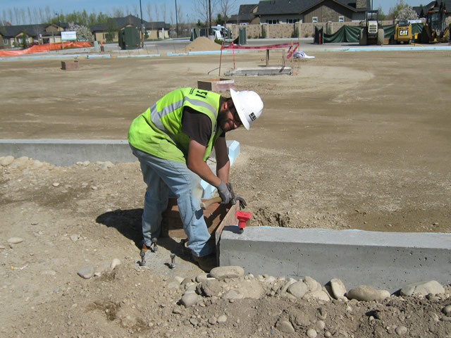 Kory With Esi Concrete Doing Form Work At Esi 39 S Edgewood Assisted Living Project In Eagle Near